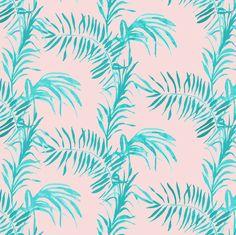 Tropical Palm (rose quartz) fabric by nouveau_bohemian on Spoonflower - custom fabric