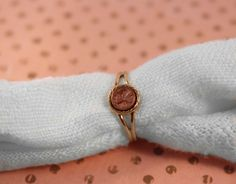 Avon Pretty Penny Gold Tone Ring - Vintage 1979 by FrogTears on Etsy