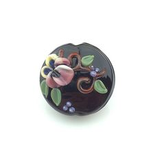 Pansy Focal Bead - Handmade Glass Beads