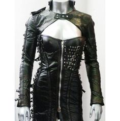 Italiano Couture Warrior Leather Dress & Bolero