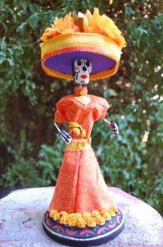 Day of the Dead Wire and Clay Sculpture