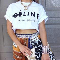 T-SHIRT: http://www.glamzelle.com/products/celine-up-the-bitches-print-shirt-2-colors-available
