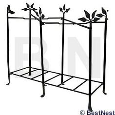 """Achla Tall Terrace Plant Stand, Black, 33.5""""H at BestNest.com"""