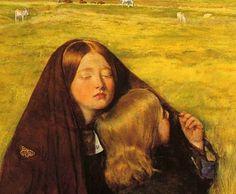 John Everett Millais - The Blind Girl detail