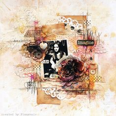"Imagine - Prima ""Rondelle"" collection by finnabair, via Flickr"