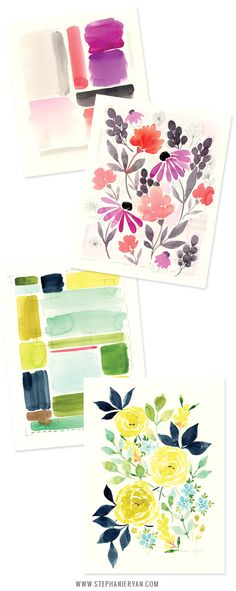 Stephanie Ryan Watercolor Florals