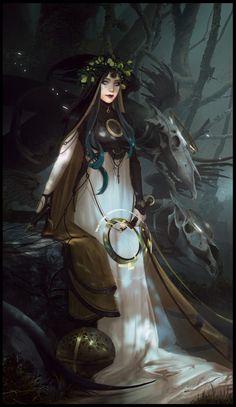 Magdalena Radziej Concept Art World Dark Fantasy Art, Fantasy Girl, Fantasy Artwork, Fantasy Witch, Dnd Characters, Fantasy Characters, Female Characters, Fantasy Character Design, Character Design Inspiration