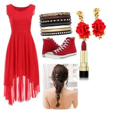 """Untitled #9"" by caleigh-lydon ❤ liked on Polyvore featuring Yves Saint Laurent, Oscar de la Renta, Converse and Dolce&Gabbana"