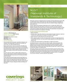 Coverings 2013 PROJECT: Green Gold Project - Institutional, New Construction. National Institute of Standards & Technology (N.I.S.T.) submitted by HDR Architecture, Inc.