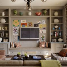 TV area for a game room Jeffers Design Group