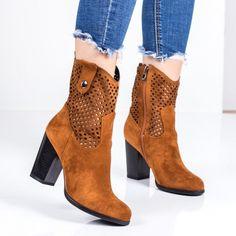 Cizme dama cu toc camel Iminali-rl Camel, Booty, Ankle, Shoes, Fashion, Moda, Swag, Zapatos, Wall Plug
