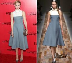 """The Fashionista Stories: Jena Malone in Valentino at """"The Hunger Games: Catching Fire"""" Premiere, shop her look on M'O now!"""