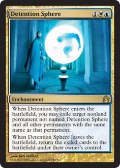 Detention Sphere mtg Magic the Gathering Return to Ravnica rare blue white Azorius enchantment card