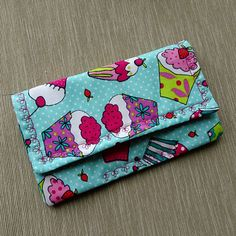 Coupon 0rganizer Coupon Wallet Cupcake Fabric Receipt