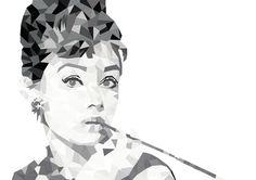 Geometría Audrey Hepburn, hecho con Illustrator CS6