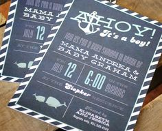 Ahoy It's A Boy Baby Shower Customized by YourNewFriendSam on Etsy