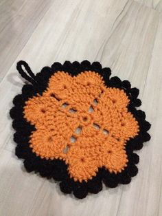 Heart pattern potholder crochet