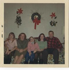 George, Noni, and their daughters, Christmas 1966.