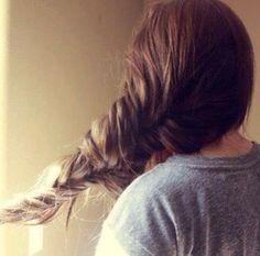 Messy fishtail braid #gorgeoushair
