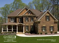 Garrell Associates, Inc. Oxford E House Plan 07256, Front Elevation,Traditional Style House Plans, Colonial Style House Plans, Design by Michael W. Garrell