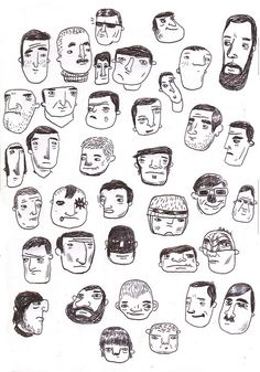 Doodle faces by Mata