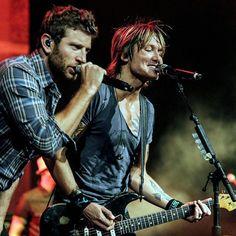~ Brett Eldredge & Keith Urban...saw them together in August 2014. OMG!