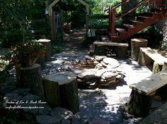 Rustic fire pit (Garden of Len  Barb Rosen)