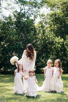 My four flower girls wore dresses by Cassie's Closet.