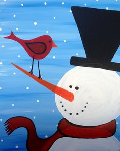I am going to paint Frosty Friends at Pinot's Palette - Broken Arrow to discover my inner artist!