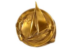 Brass Sailboat Ashtray