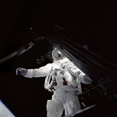 """Schweickart On """"The Porch"""" by NASA on The Commons, via Flickr"""