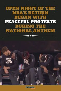 The NBA's Return Began With Protests During National Anthem  LeBron James says he hopes the NBA made Colin Kaepernick proud as their NBA season began again with a unified protest.  #NBA #NationalAnthem #BlackLivesMatter
