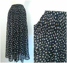 Sheer Maxi Daisy Print Skirt Express Vintage by rileybella123, $24.00