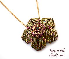 Tutorial Whimsical Pendant Beading tutorial Instant by Seed Bead Tutorials, Beading Tutorials, Beading Patterns, Seed Bead Bracelets Diy, Beaded Bracelets, Beaded Necklace Patterns, Star Pendant, Seed Beads, Hanger