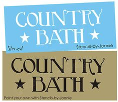 STENCIL Country Bath Stars Birmingham font Primitive Family Home Craft signs