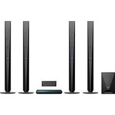 Home Theater Blu-Ray 3D Sony BDV-E6100, 850W RMS, 5.1 Canais, HDMI, USB, Bluetooth, NFC, Wi-Fi, Full HD