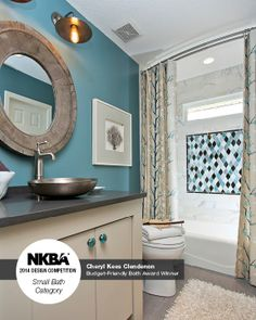 "2014 NKBA Design Competition Winner- Budget-Friendly Bath ""Beauty on a Budget"" Designed by Cheryl Kees Clendenon, In Detail Interiors, Pensacola, FL"