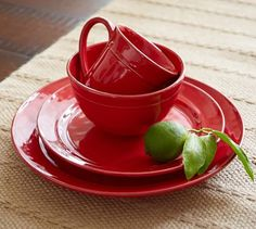 Cambria Dinnerware - Red #potterybarn