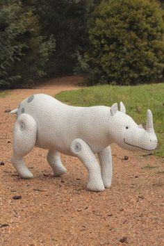 Dozer Rhinoceros sewing pattern PDF  beginner friendly: rhino