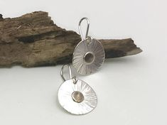 Earrings, sterling silver, small, light, round, forged, blackened, women's jewelry, silver earrings, handmade, unique jewelry, gifts jewelry