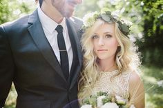 Flower Crown and boho bridal looks inspiration from a real wedding