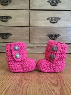 Cute little boots that are actually really easy to put on a baby.