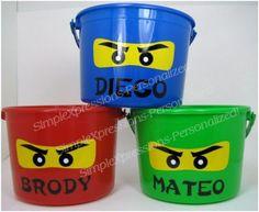 NInjago party personalized birthday party favor pail via Etsy