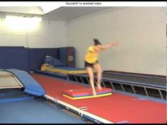 Round Off Hurdle Over Folded Mat Drill - YouTube