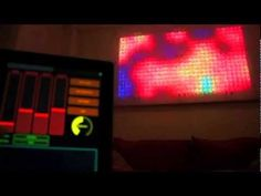 The Aurora LED wall: a 4ft by 8ft iPad-controlled, music-responsive canvas of color