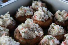 Crab & Cream Cheese Stuffed Mushrooms