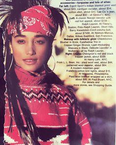 Native Taino Sabrina Barnett.  Elle magazine