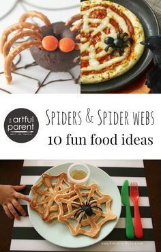 Spiders and Spider Web Foods - 10 fun foods, snacks and desserts