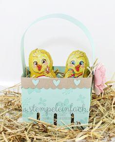 stempel einfach - Ostern, Osterkörbchen