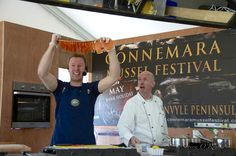 Graham Roberts Connemara Smokehouse & chef Martin Ruffley of Galway GMIT Tourism Arts at Connemara Mussel Festival Atlantic Salmon, Connemara, Smokehouse, Mussels, Smoked Salmon, Graham, Seafood, Irish, Tourism